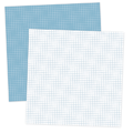 Blue and White Grid Digital Scrapbook Paper