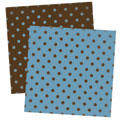 Blue and Brown Spot Digital Scrapbook Paper