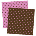 Pink and Brown Spot Digital Scrapbook Paper