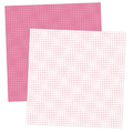 Pink and White Grid Digital Scrapbook Paper