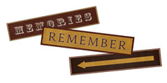 Worn Memories Scrapbooking Tags